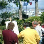 """24 avril : Grand Prix de Six-Fours Entre deux manches deux concours, les cruciverbistes ont planché sur des grilles """"bleues"""" face à la mer."""