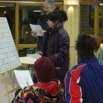 07 décembre : Téléthon aux Carroz Sur de petits tableaux au restaurant scolaire... (photo Monique Grosshans)