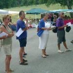 08 août : CORDON (Haute-Savoie) Estivants et cordonnans ont planché ensemble avec JR sur les grilles du pain et de la BD : croustillant !